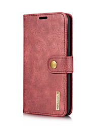 cheap -Case For LG V30 V20 Card Holder with Stand Flip Full Body Cases Solid Color Hard Genuine Leather for LG V30 LG V20