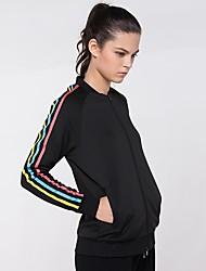 abordables -Femme Tee-shirt de Course Manches Longues Séchage rapide Shirt pour Coton Noir L / XL / XXL