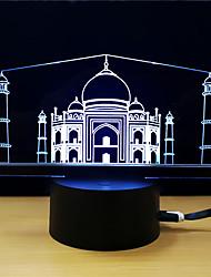abordables -1set Veilleuse 3D DC alimenté Soulagement de stress et l'anxiété Avec port USB Couleurs changeantes