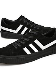 Недорогие -Муж. обувь Свиная кожа Весна Осень Удобная обувь Кеды для Повседневные Черный Серый Красный