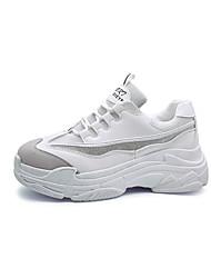 abordables -Unisexe-Décontracté-Rose / Violet / Rouge / Gris / Noir et blanc-Talon Plat-Bout Arrondi-Sneakers-Daim