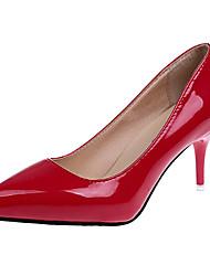 preiswerte -Damen Schuhe Lackleder Frühling Herbst Pumps High Heels Stöckelabsatz Spitze Zehe für Normal Büro & Karriere Weiß Schwarz Violett Rot Wein
