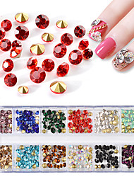baratos -1 pcs Jóias de Unhas Strass Cristal / Strass arte de unha Manicure e pedicure Festa / Eventos / Diário Bling Bling / Nail Glitter / Jóias de unha