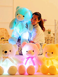 cheap -Romance Creative Teddy Bear Stuffed Animal Plush Toy Lovely LED Silicone Girls' Toy Gift