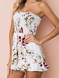 abordables -Mujer Casual Mono - Básico Estampado, Floral