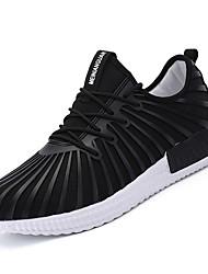 economico -Per uomo Scarpe Maglia traspirante Primavera Autunno Comoda scarpe da ginnastica Footing per Casual Nero Blu scuro Rosso