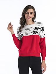 Недорогие -женский ежедневный праздник простой цветной блок шелка свитер пуловер, с длинными рукавами весна