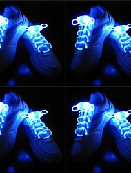 Недорогие -BRELONG® 4 пары Световые шнурки Розовый Зеленый Желтый Синий Красный Батарея с батарейкой