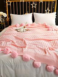 cheap -Coral fleece, Reactive Print Solid Colored Polka Dot Cotton/Polyester Polyester Blankets