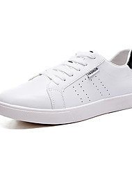 abordables -Homme Chaussures Gomme Printemps Automne Confort Chaussures d'Athlétisme Marche Lacet pour De plein air Blanc Noir et rouge Noir/blanc