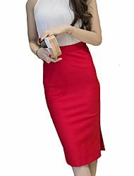 preiswerte -Damen Street Schick Stifte Röcke - Solide Einfarbig