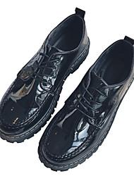 baratos -Homens sapatos Couro Ecológico Primavera Outono Conforto Sapatos de Barco para Casual Escritório e Carreira Preto