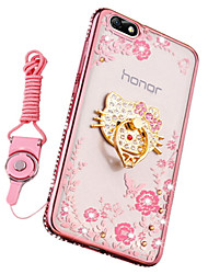 abordables -Coque Pour Huawei Honor 7X Antichoc Strass Avec Support Coque Bande dessinée Flexible Silicone pour Huawei Honor 4X