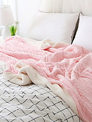cheap -Knitted, Yarn Dyed Solid Colored Polyester/Polyamide Blankets