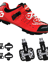 cheap -SIDEBIKE Men's Mountain Bike Shoes / Bike Shoes With Pedals & Cleats Nylon and Carbon Fiber Cycling / Bike Cushioning Breathable Mesh /