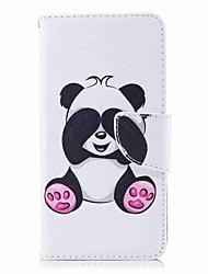 Недорогие -Кейс для Назначение Huawei P9 lite mini / P8 Lite (2017) Кошелек / Бумажник для карт / со стендом Чехол Панда Твердый Кожа PU для P10 Lite / P10 / P9 lite mini
