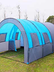 cheap ->8 persons Cabin Tent Triple Camping Tent Three Rooms Family Camping Tents Fast Dry Windproof Wearable Sweat-Wicking Breathability