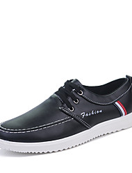 cheap -Men's Shoes Rubber Spring / Fall Comfort Sneakers White / Black / Brown