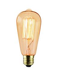 cheap -1pc 25W E26/E27 ST64 2300 K Incandescent Vintage Edison Light Bulb AC 220V AC 220-240V V