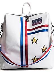cheap -Women's Bags PU(Polyurethane) Sports & Leisure Bag Zipper White / Black