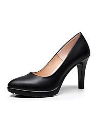 preiswerte -Damen Schuhe Mikrofaser Frühling Herbst Pumps High Heels Stöckelabsatz Spitze Zehe für Büro & Karriere Weiß Schwarz Rot