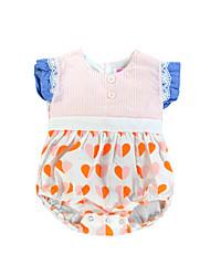 cheap -Toddler Girls' Boho Holiday Polka Dot / Striped Lace / Backless Sleeveless Blouse / Cute