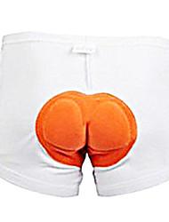 baratos -WEST BIKING® Unisexo Cueca Boxer Acolchoada Moto Shorts / Shorts Roupa interior / Shorts Acolchoados Tapete 3D, Secagem Rápida, Respirável Retalhos Roupa de Ciclismo / Com Stretch