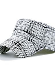 Недорогие -Универсальные Для офиса На каждый день Берет Шляпа от солнца Бейсболка Хлопок Полиэстер, Шахматка