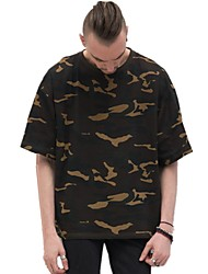 abordables -Tee-shirt Homme,Points Polka Rayé camouflage Actif Basique