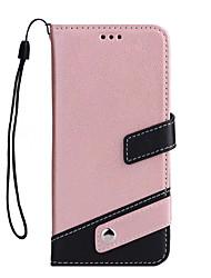 billige -Etui Til Apple iPhone X iPhone 8 Plus Kortholder Med stativ Fuldt etui Helfarve Hårdt PU Læder for iPhone X iPhone 8 Plus iPhone 8