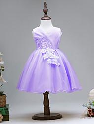 abordables -Robe Fille de Soirée Quotidien Couleur Pleine Coton Polyester Printemps Eté Sans Manches Mignon Actif Or Violet