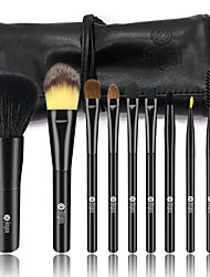 abordables -9pcs Pinceles de maquillaje Profesional Sistemas de cepillo Pincel de Pelo de Cabra / Pincel de Comadreja / Pelo Sintético Cabello De