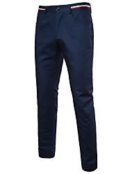 abordables -Hombre Deportivo Activo Chinos Pantalones - Un Color