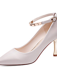 cheap -Women's Shoes Synthetic Microfiber PU Spring / Fall Gladiator / Basic Pump Heels Stiletto Heel White / Light Pink / Party & Evening