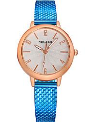 baratos -Mulheres Relógio de Moda Chinês Relógio Casual Outro Banda Elegante / Minimalista Preta / Azul / Prata