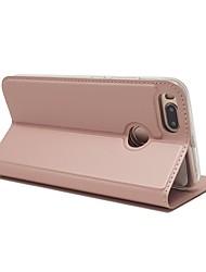 billige -Etui Til Xiaomi Mi 5X Kortholder Med stativ Fuldt etui Helfarve Hårdt PU Læder for Xiaomi Mi 5X