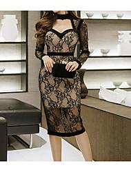cheap -Women's Street chic Bodycon Sheath Dress - Solid Colored