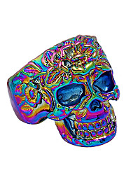 cheap -Men's Statement Ring - Skull Rock, Colorful 9 Gold / Silver / Rainbow For Club / Bar