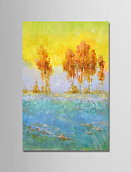 Pintados à mão Abstrato Paisagem Vertical, Modern Tela de pintura Pintura a Óleo Decoração para casa 1 Painel