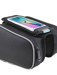 preiswerte -ROSWHEEL Fahrradtasche Fahrradrahmentasche Handy-Tasche Regendicht Einfach zu installieren Reflexstreiffen Tasche für das Rad PU-Leder