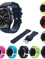 Недорогие -Ремешок для часов для Gear S3 Frontier Samsung Galaxy Спортивный ремешок силиконовый Повязка на запястье