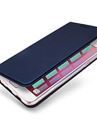 baratos -Capinha Para Huawei P10 Plus P10 Porta-Cartão Com Suporte Capa Proteção Completa Côr Sólida Rígida PU Leather para P10 Plus P10 Lite P10