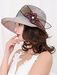 cheap -Women's Vintage Lace Sun Hat - Solid Colored, Lace