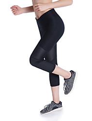 baratos -Mulheres Calças de Yoga Esportes Tingido Elastano 3/4 calças justas Corrida, Fitness, Ginásio Roupas Esportivas Respirável, Secagem Rápida, Power Flex Elasticidade Alta