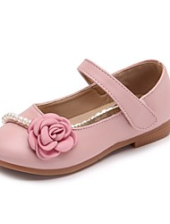 cheap -Girls' Shoes Leather / PU Summer Comfort Flats Flower for Blue / Pink