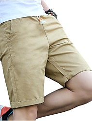 cheap -Men's Plus Size Cotton Slim Chinos / Shorts Pants - Solid Colored Pleated / Please choose one size larger according to your normal size.