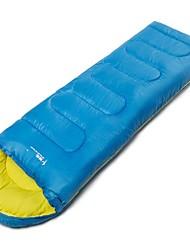Недорогие -Спальный мешок на открытом воздухе Односпальный комплект (Ш 150 x Д 200 см) 3 °C Прямоугольный Пористый хлопок С защитой от ветра Дожденепроницаемый Водонепроницаемаямолния для Зима