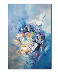 cheap -STYLEDECOR Modern Hand Painted Blue Background Abstract Canvas Oil Painting for Wall Art