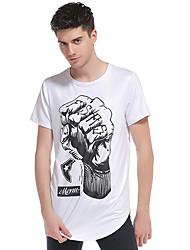 Majica s rukavima Muškarci - Ulični šik Jednobojni Print