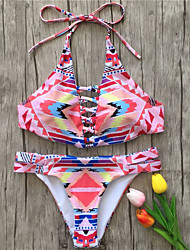 cheap -Women's Bikini - Geometric, Print